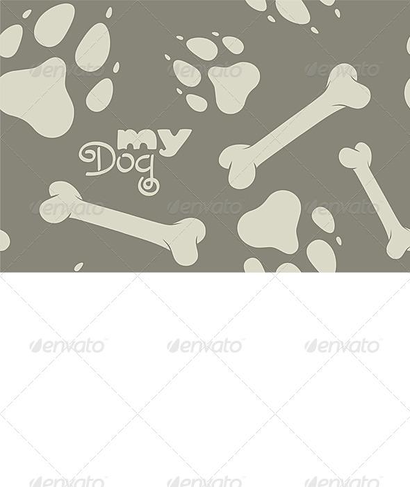 My Dog pattern - Backgrounds Decorative