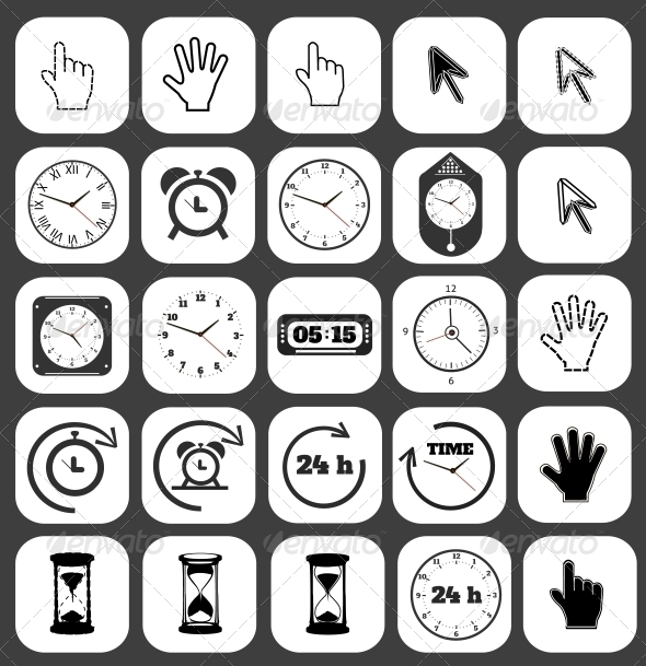 Interface Icon Set - Man-made Objects Objects