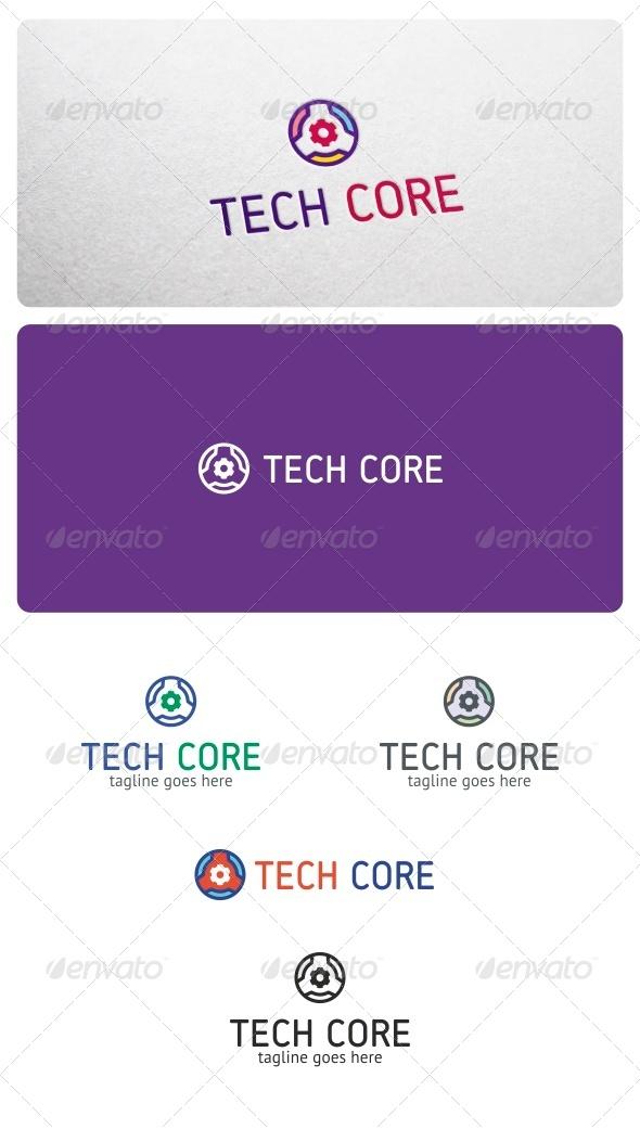 Tech Core Logo - Vector Abstract