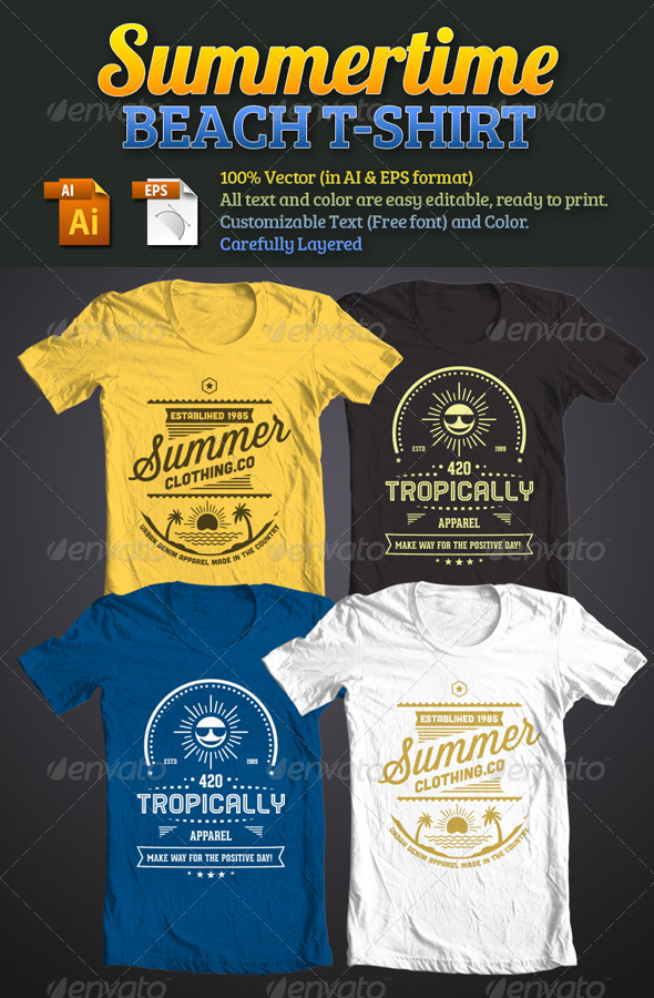 Summertime Beach T-Shirt - Events T-Shirts