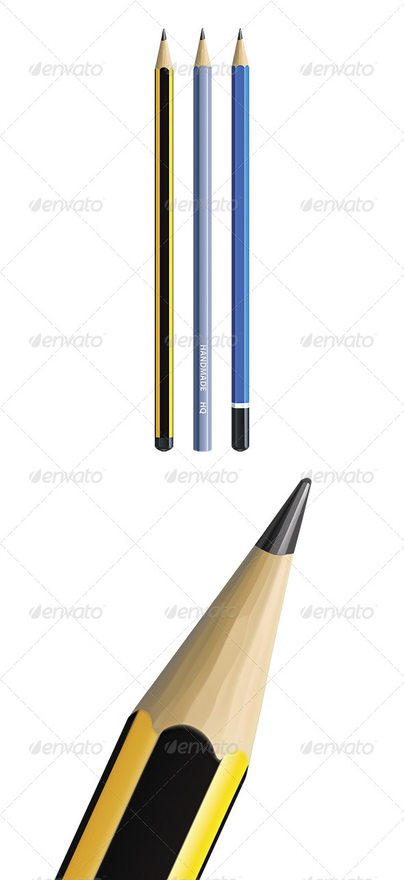 Pencils - Man-made Objects Objects