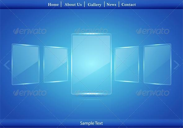 Glass Picture Gallery - Web Elements Vectors