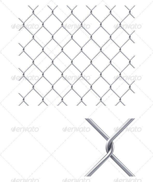 Chain Fence - Man-made Objects Objects
