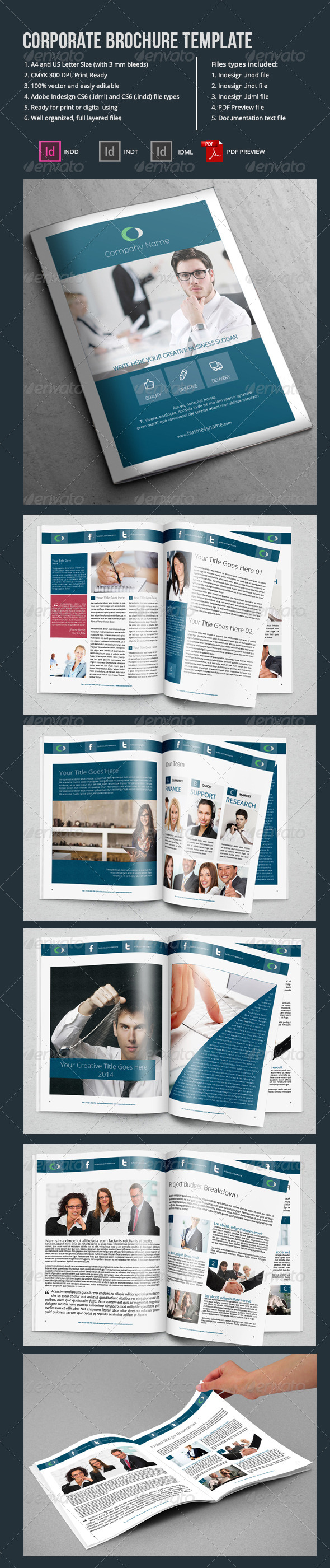 Corporate Brochure Template-12 Pages - Corporate Brochures