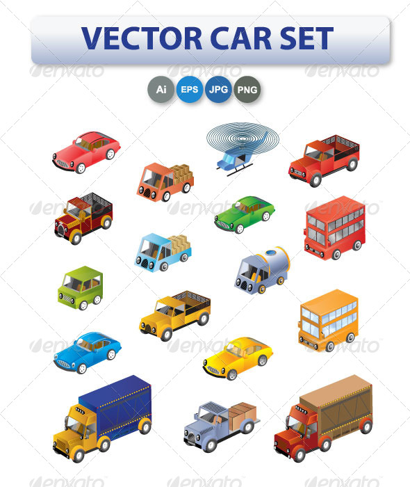 Set of Cars and Trucks - Industries Business