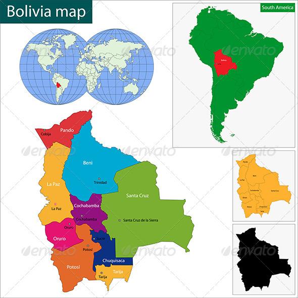 Bolivia Map - Travel Conceptual