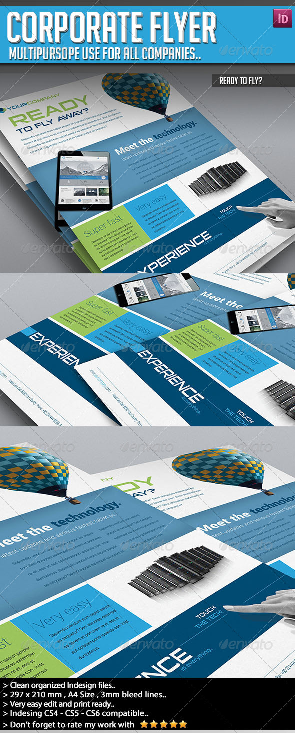 Corporate Flyer - Ready to Fly? - Corporate Flyers