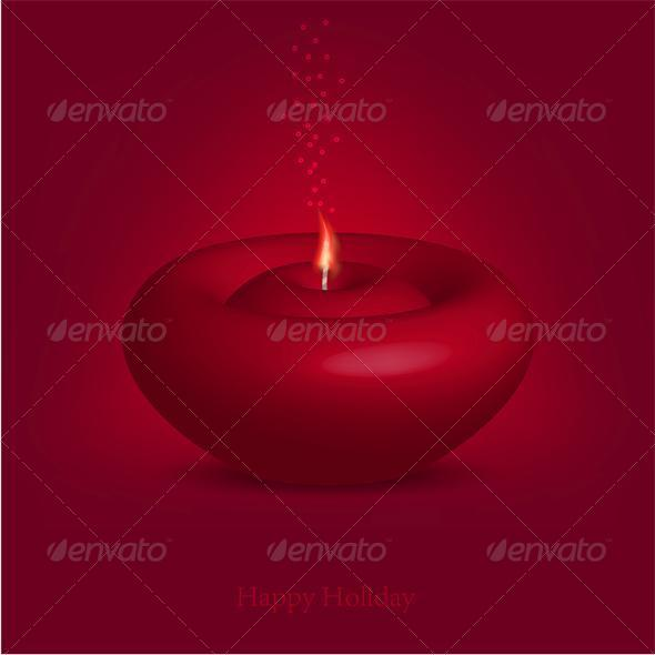 Candle for Happy Holiday - Valentines Seasons/Holidays
