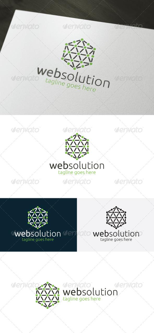 Web Solution Logo - Vector Abstract