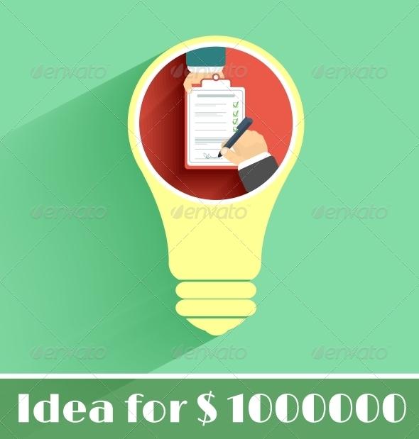 Lightbulb Idea - Concepts Business