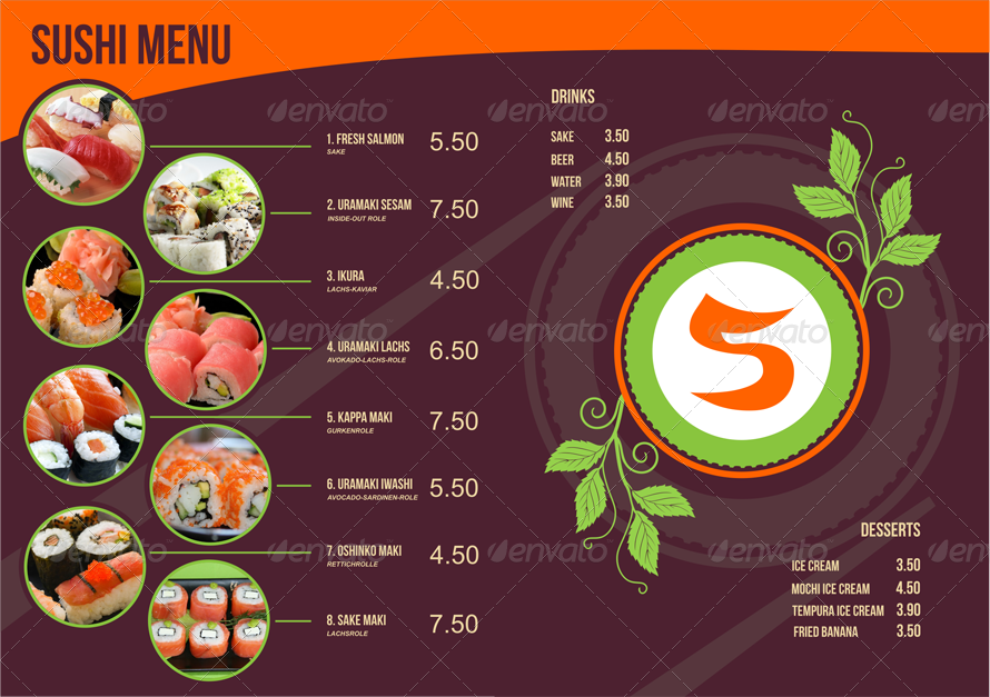 Sushi menu template by ragerabbit graphicriver menu images01inside pagesg pronofoot35fo Choice Image