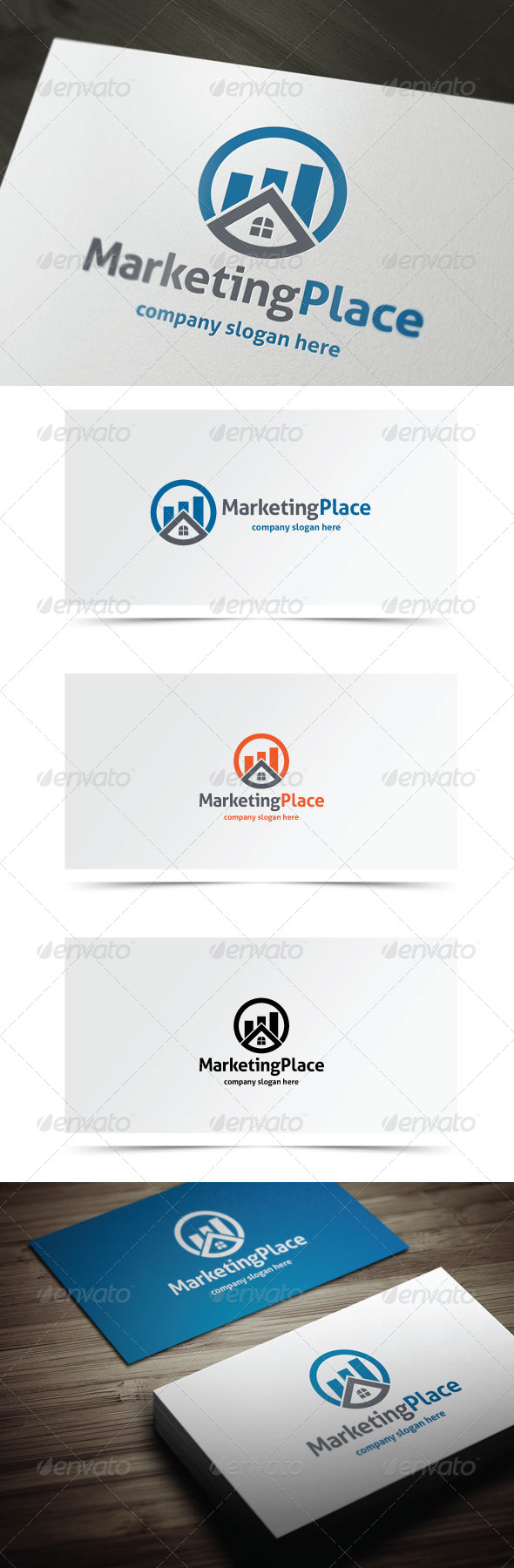 Marketing Place - Objects Logo Templates