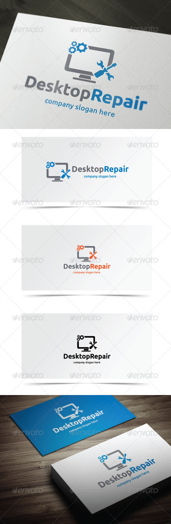 Desktop Repair - Objects Logo Templates