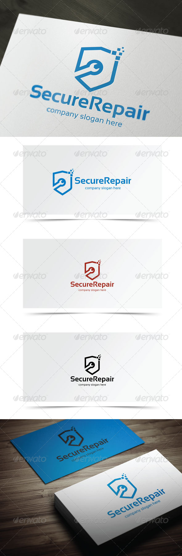 Secure Repair - Symbols Logo Templates