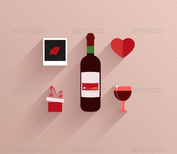 Vector Flat Modern Love Background. Eps10 - Valentines Seasons/Holidays