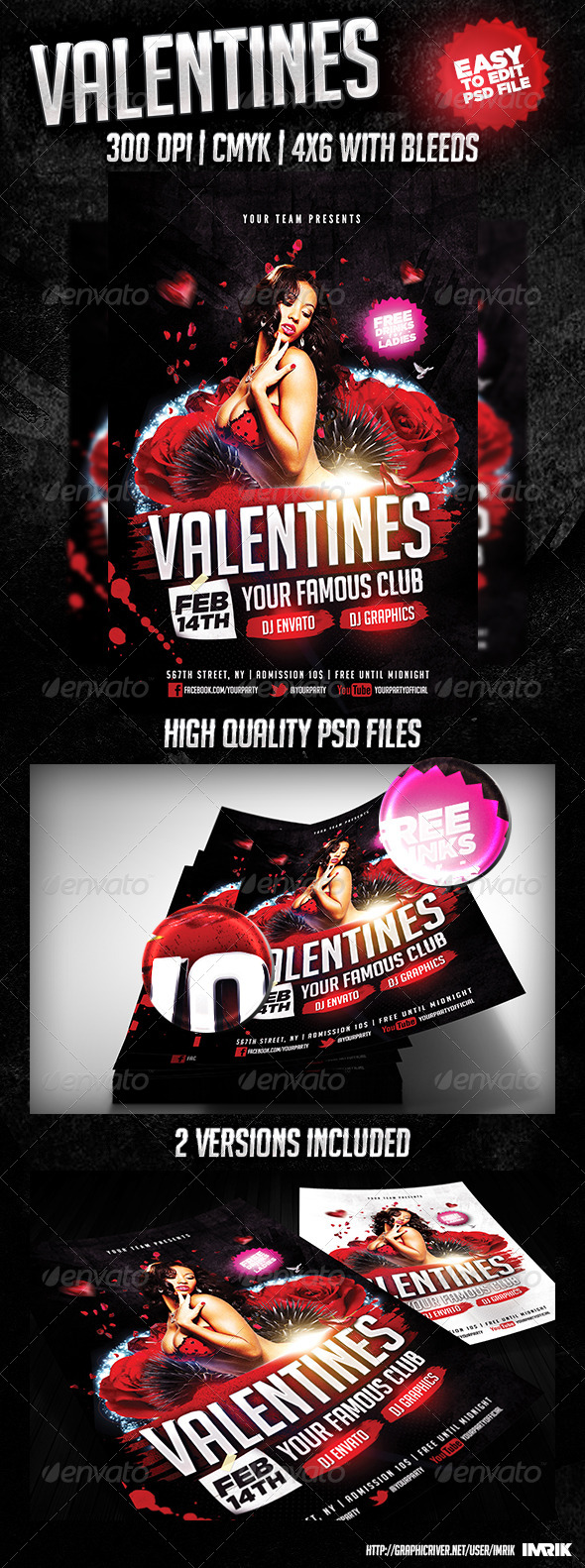 Valentines Flyer 2014 - Clubs & Parties Events