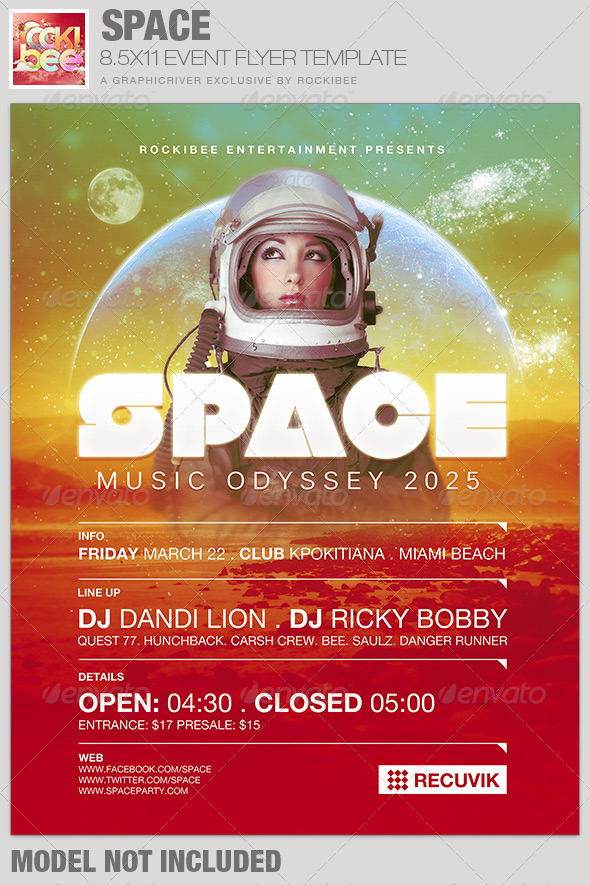 Space Event Flyer Template - Events Flyers