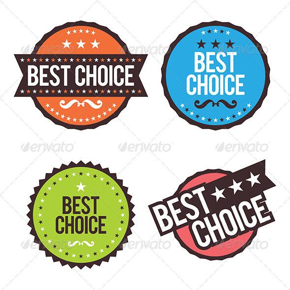 Choice Badges - Decorative Symbols Decorative