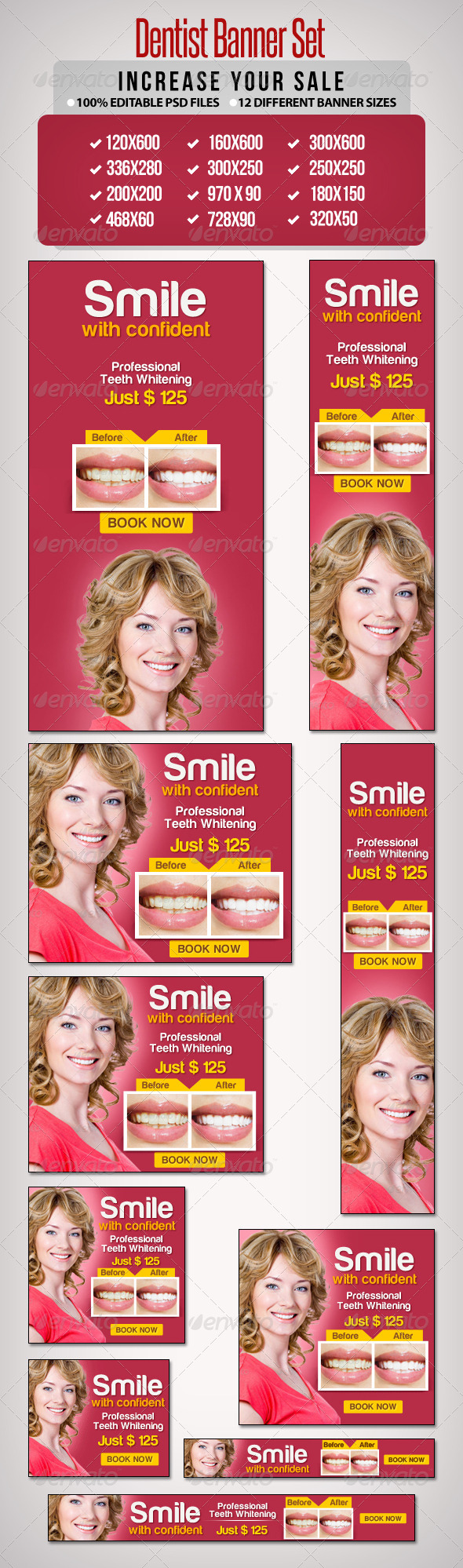 Dentist Banner Set - Banners & Ads Web Elements