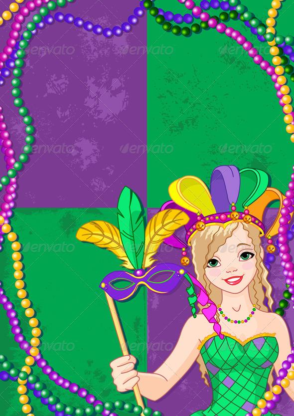 Mardi Gras Banner - Seasons/Holidays Conceptual