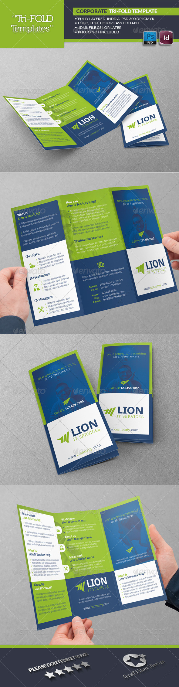 IT Services Tri-Fold Template - Brochures Print Templates