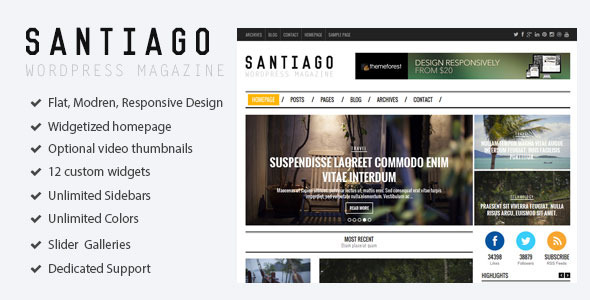 Santiago - Responsive WordPress Magazine Theme - Blog / Magazine WordPress