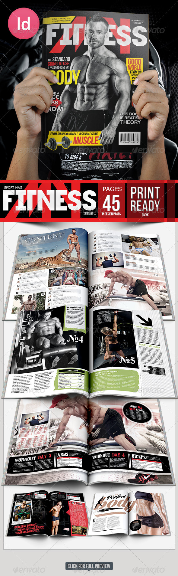 Fitness Body Magazine Issue 2 - Magazines Print Templates