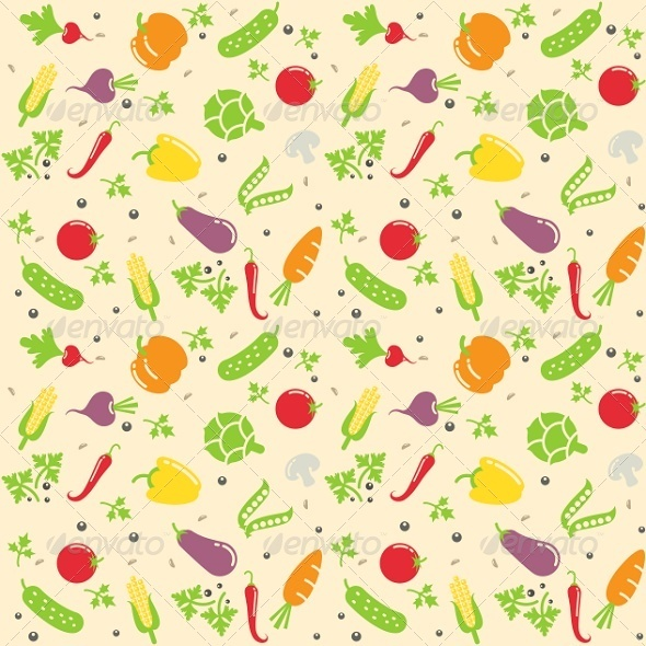 Seamless Vegetable Texture - Man-made Objects Objects