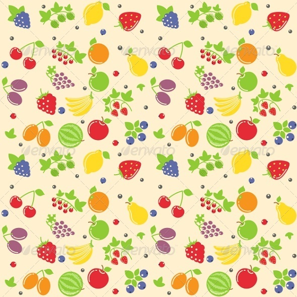 Seamless Fruit Texture - Man-made Objects Objects