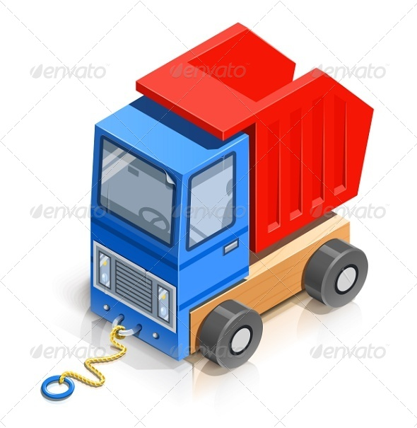 Truck. Wooden Toy - Man-made Objects Objects