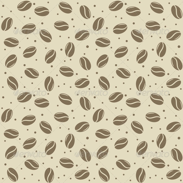 Seamless Coffee Seed Texture - Patterns Decorative