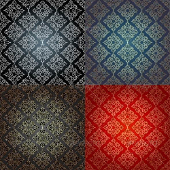 Set of Seamless Traditional Islamic Style  - Backgrounds Decorative