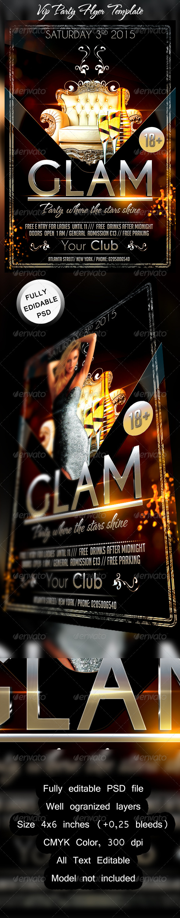 VIP Party Flyer Template - Events Flyers