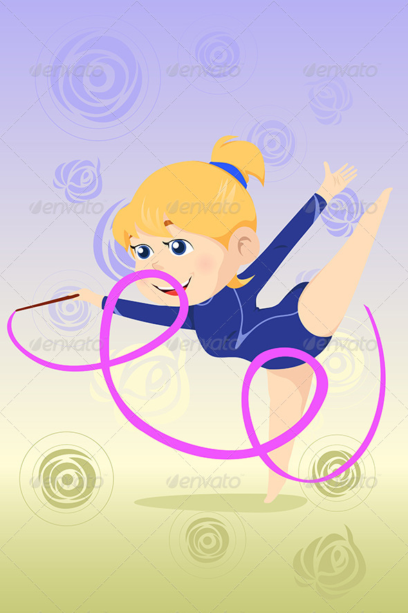 Kid Doing Gymnastics Dance - Sports/Activity Conceptual