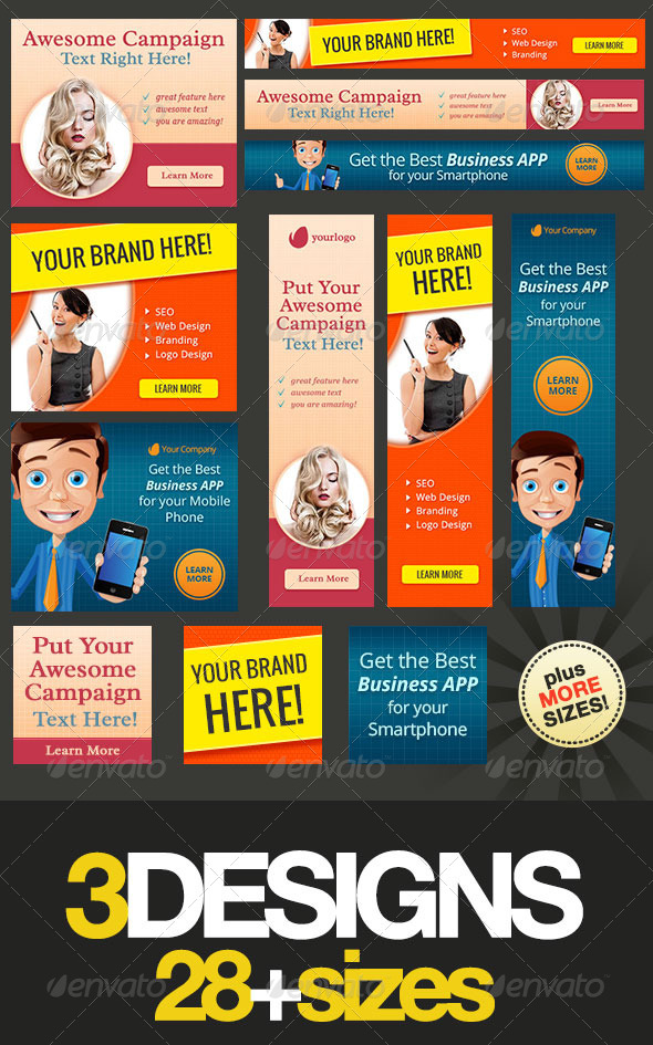 Multipurpose Web Banner Design Bundle 3 - Banners & Ads Web Elements