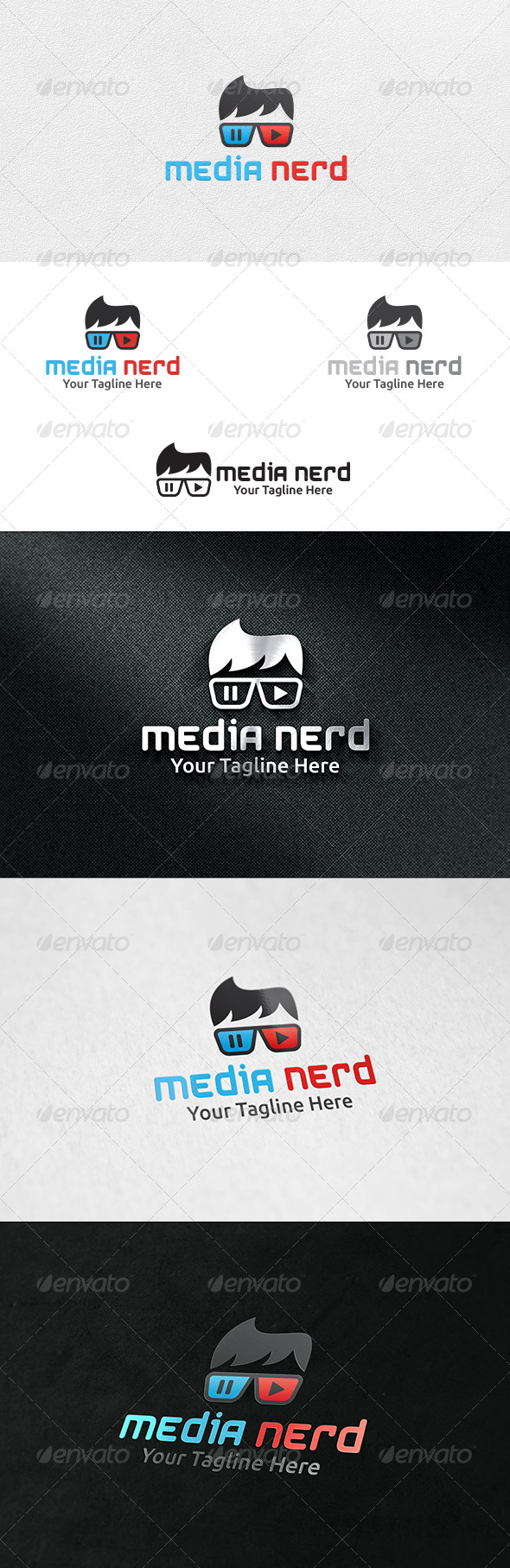 Media Nerd - Logo Template - Humans Logo Templates