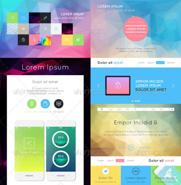 UI Flat Design - Web Technology