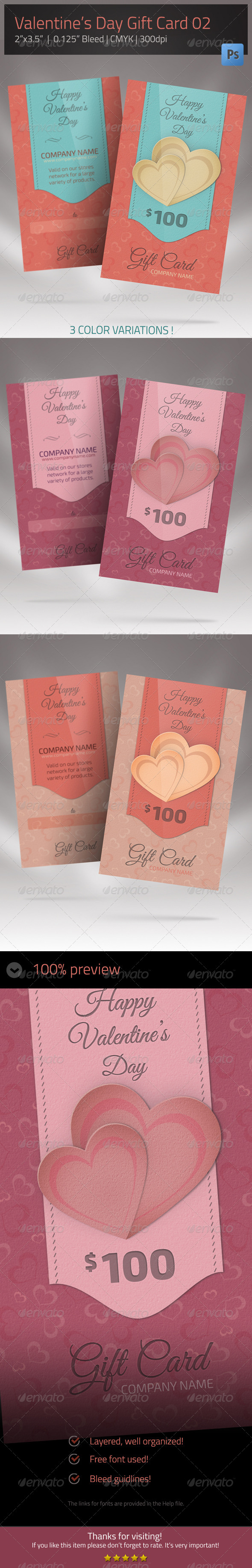 Gift Card for Valentines Day 02 - Loyalty Cards Cards & Invites