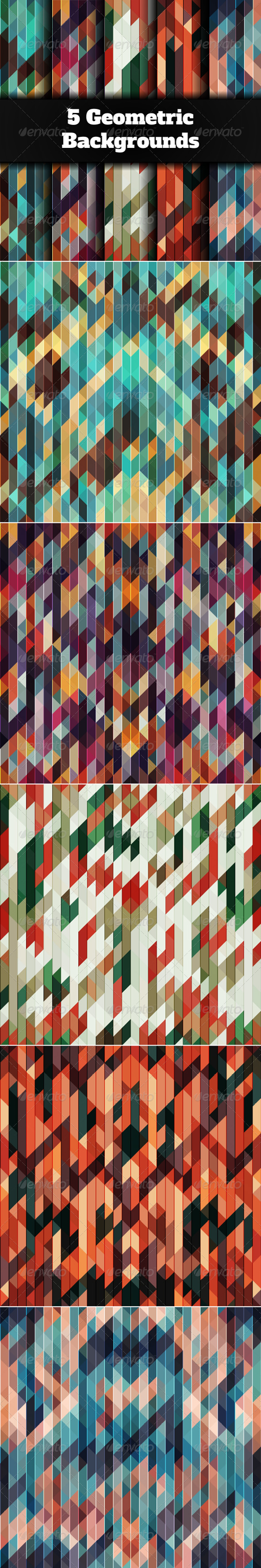 5 Abstract Geometric Background - Backgrounds Decorative