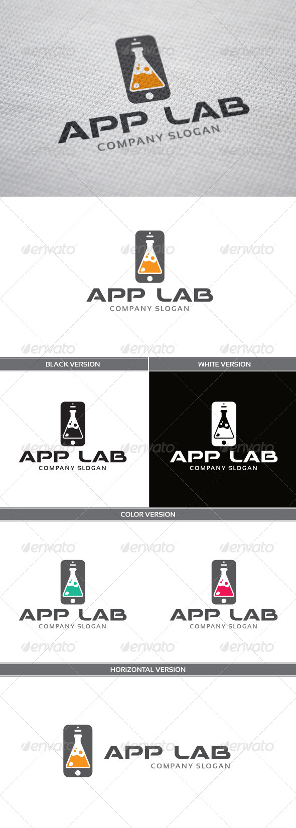 AppLab Logo - Objects Logo Templates