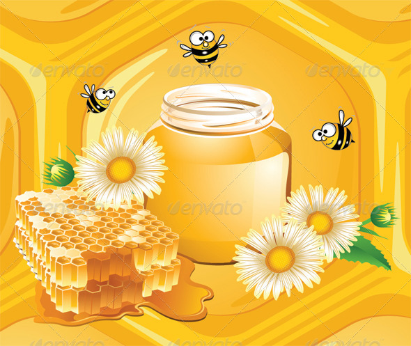 Honey and Bees - Food Objects