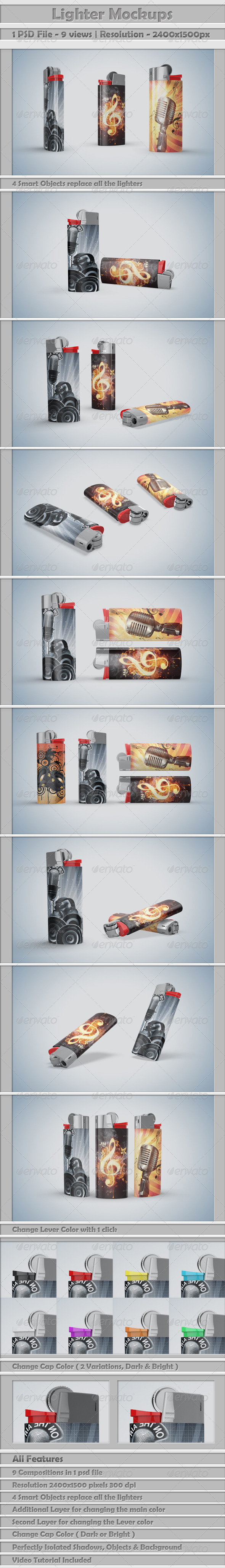 Lighters Mockup - Miscellaneous Product Mock-Ups