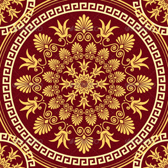 Seamless Gold Ornament  - Patterns Decorative