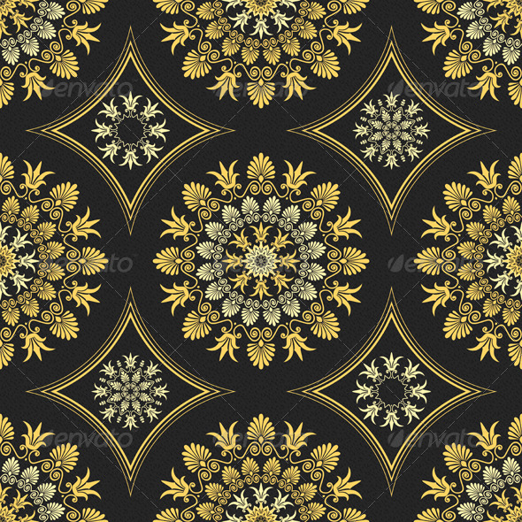 Seamless Elegant Lace Gold Ornament  - Patterns Decorative