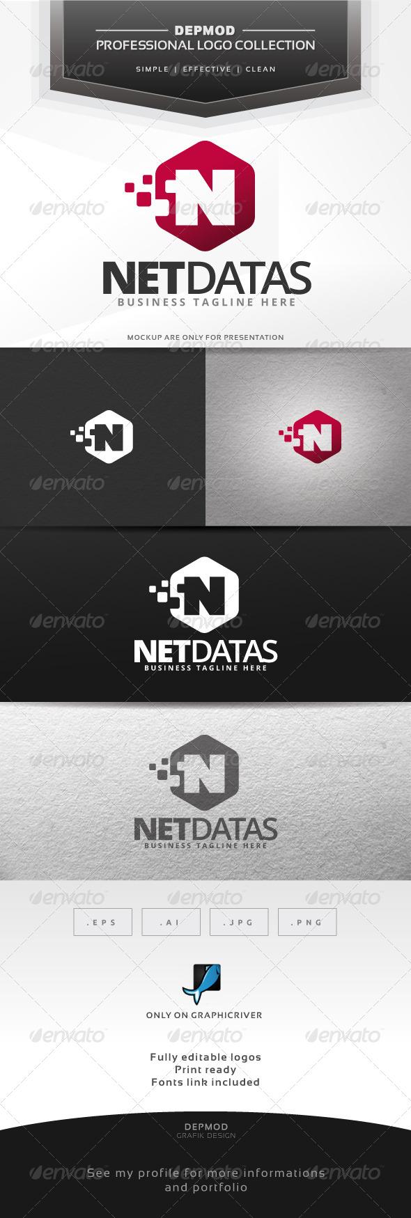 Net Datas Logo - Letters Logo Templates