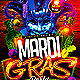 Mardi Gras Party Flyer Template - GraphicRiver Item for Sale