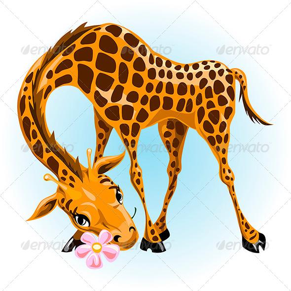Giraffe in Love - Animals Characters