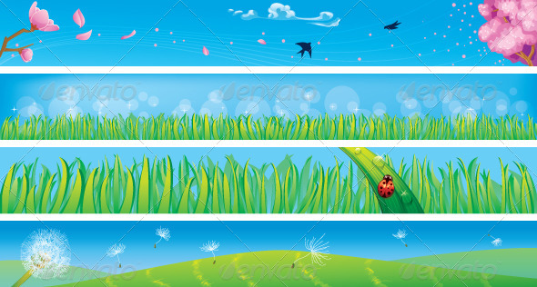 Spring Banners - Seasons Nature
