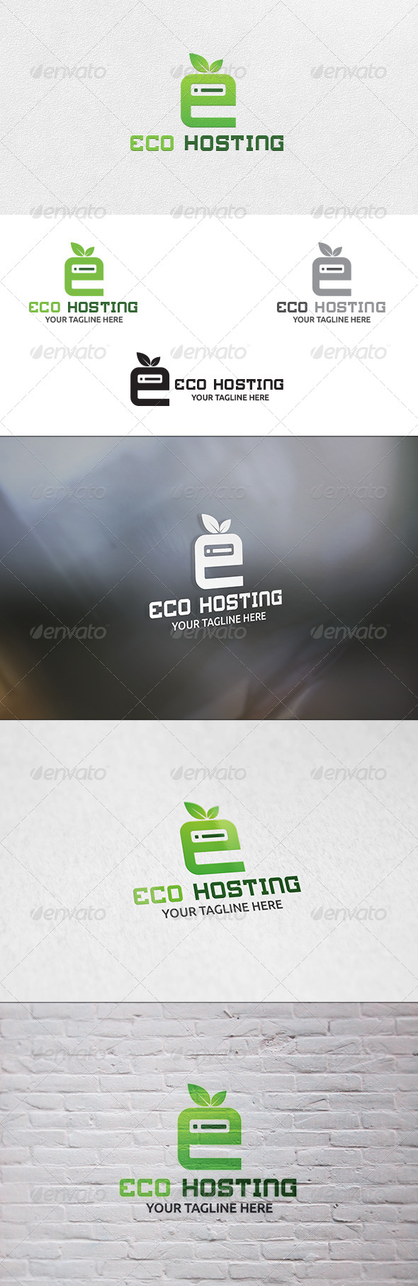 Eco Hosting - Logo Template - Nature Logo Templates