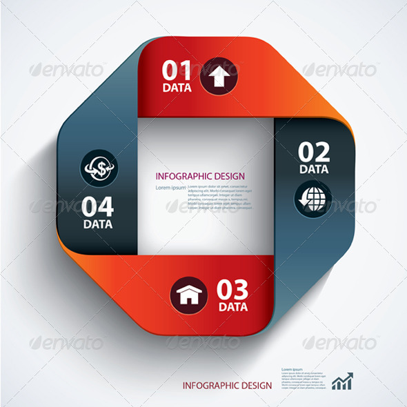 Business Step Paper Data and Design Template by kaisorn   GraphicRiver